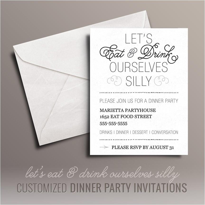 free printable dinner party invitation