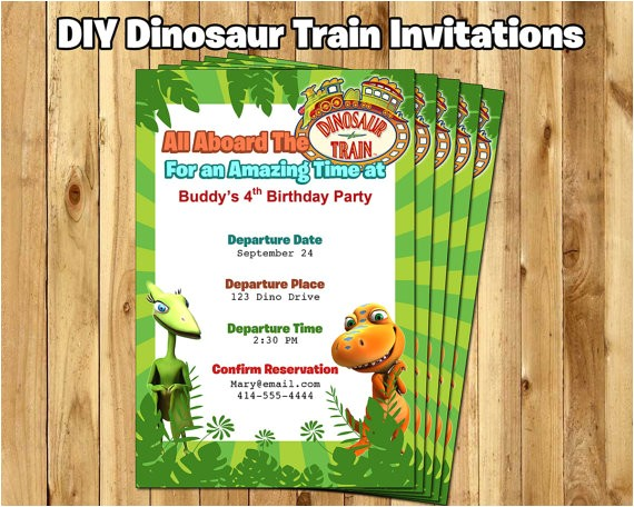 dinosaur train birthday invitation