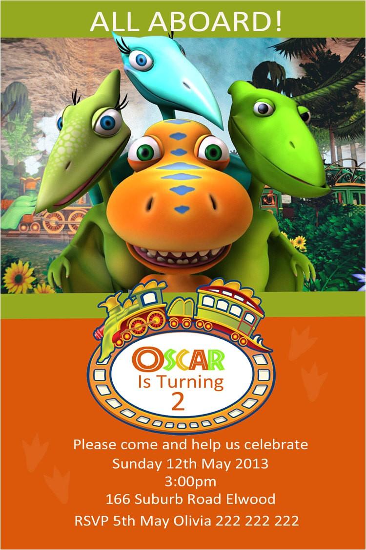 dinosaur train photo birthday invitation