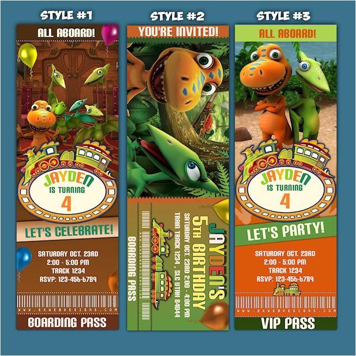 Dinosaur Train Birthday Invitations Free Personalized Dinosaur Train Ticket Style Birthday