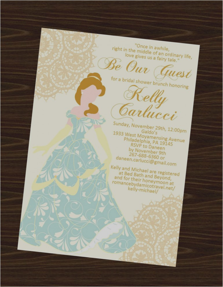 beautiful disney bridal shower invitations princess wedding invitation princesses 5873