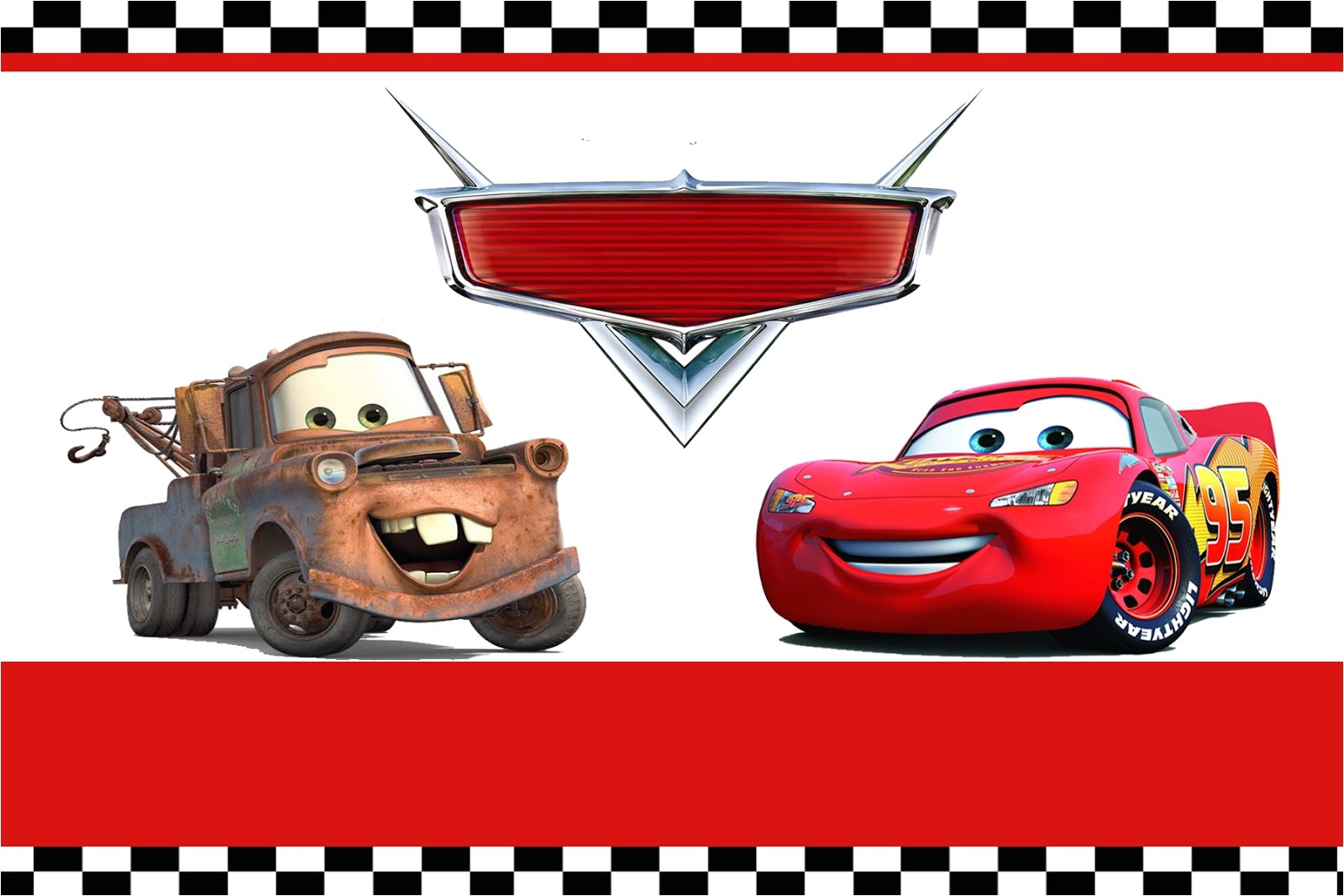 disney cars party invitation