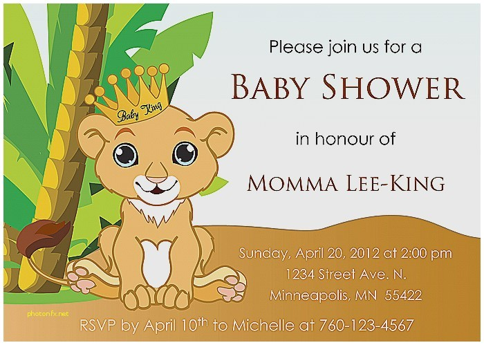 disney lion king baby shower invitations