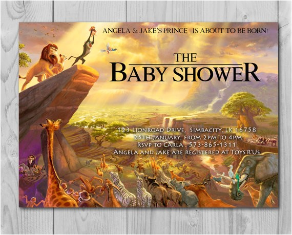 Disney Lion King Baby Shower Invitations Lion King Baby Shower Invitation Jungle by Printadorable