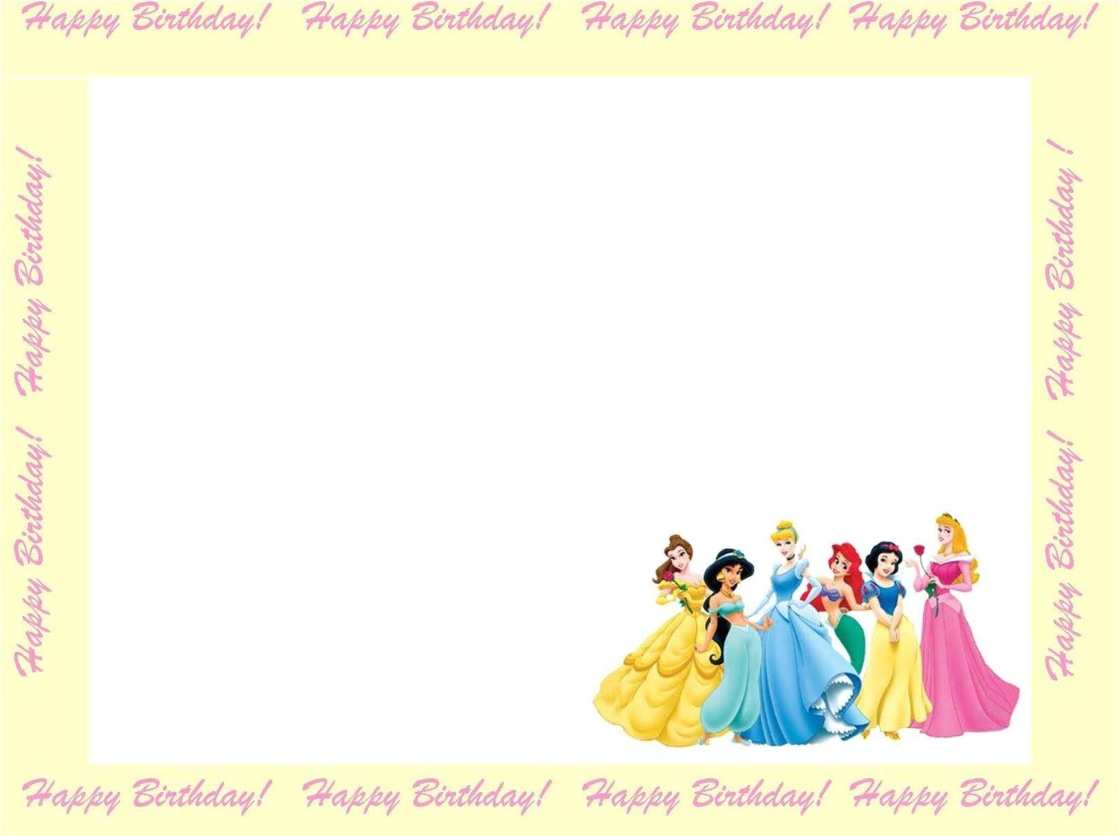 Disney Princess Birthday Invitation Templates Free 6 Free Borders for Birthday Invitations