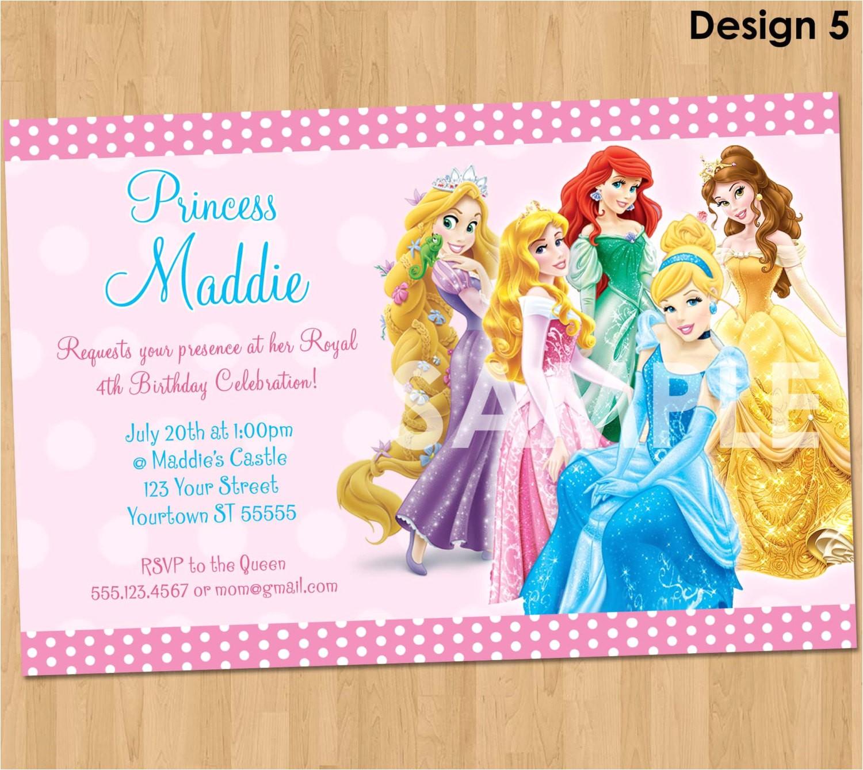 princess invitation disney princess