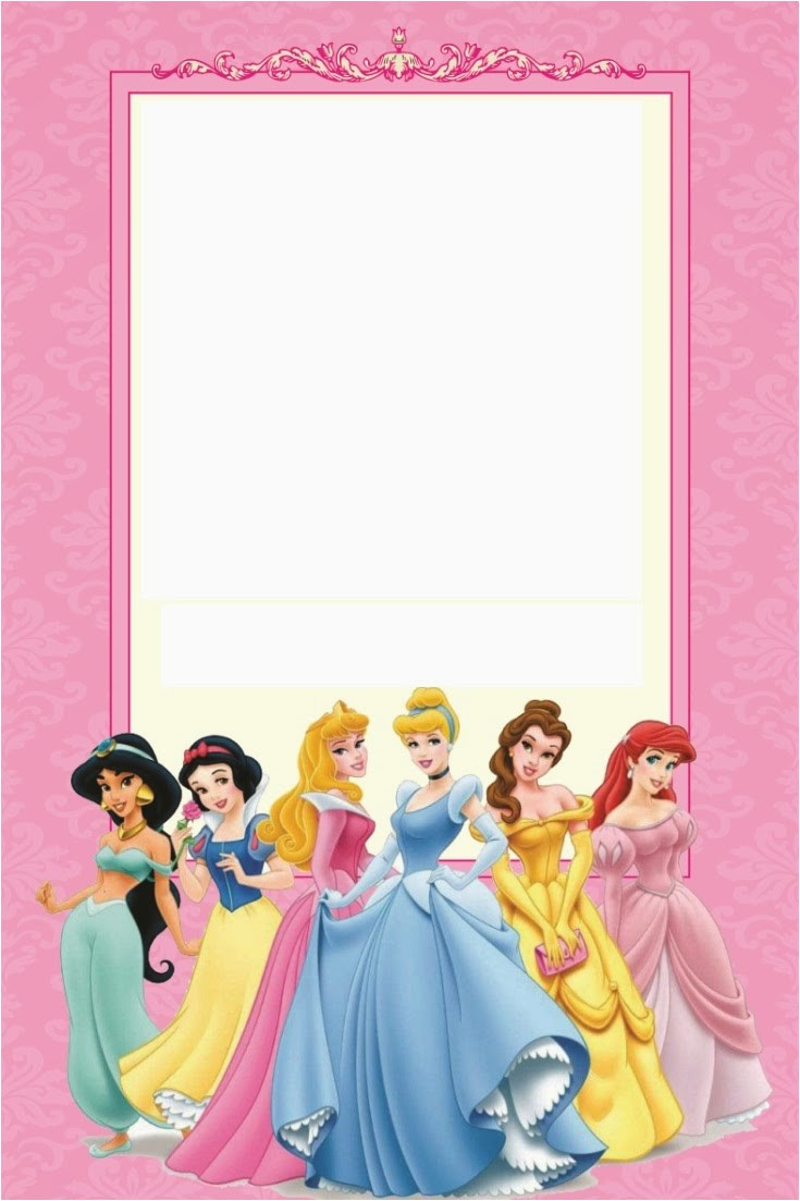 Disney Princess Birthday Party Invitations Free Printables Disney Princess Party Free Printable Mini Kit Editable