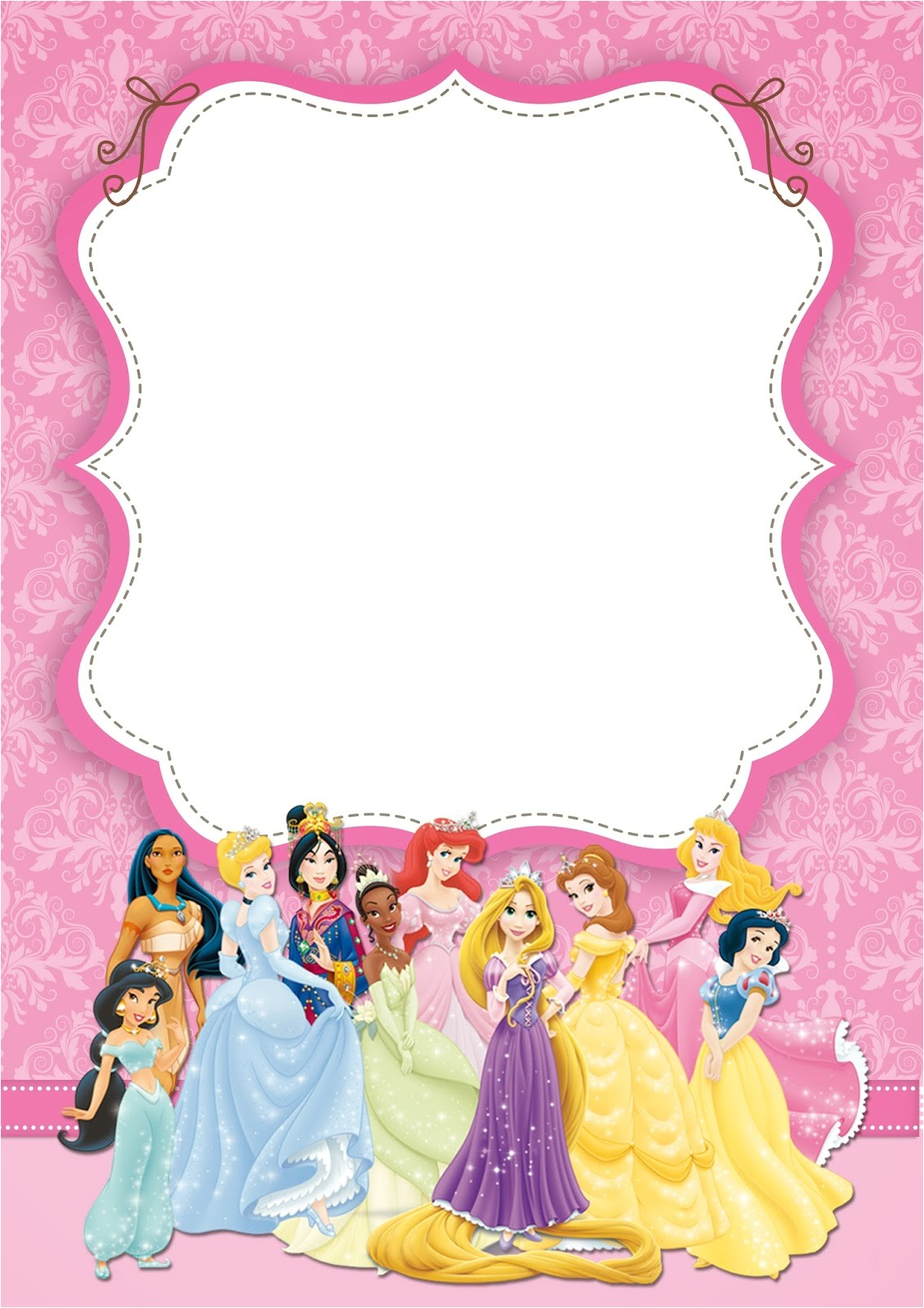 disney princess pary free printable 10
