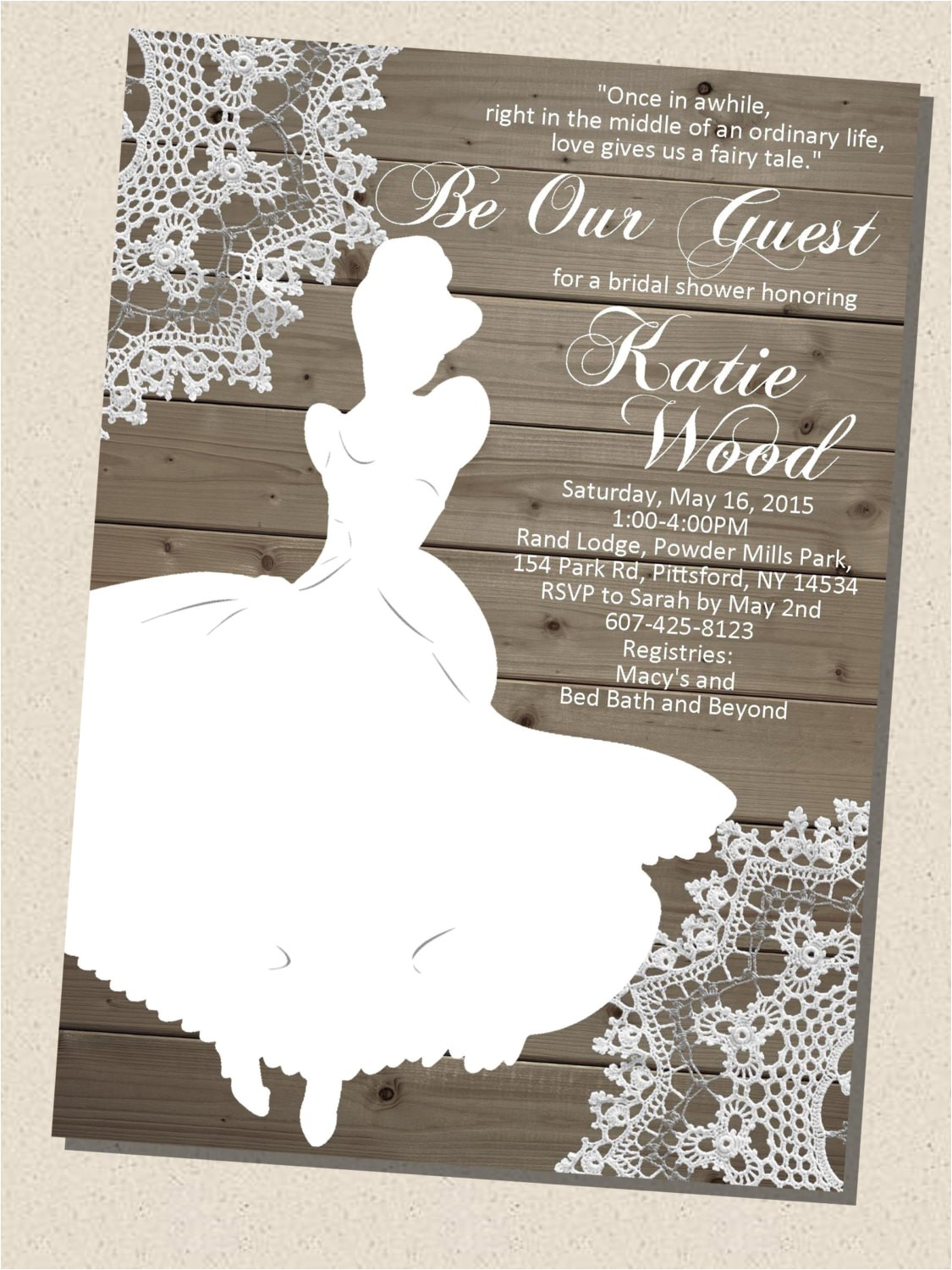 rustic wooden vintage disney princess