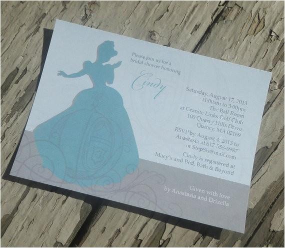 disneys cinderella theme bridal shower