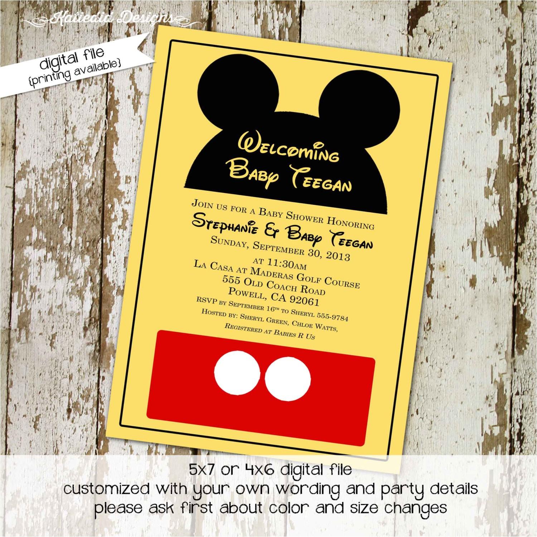 mickey mouse birthday invitation disney