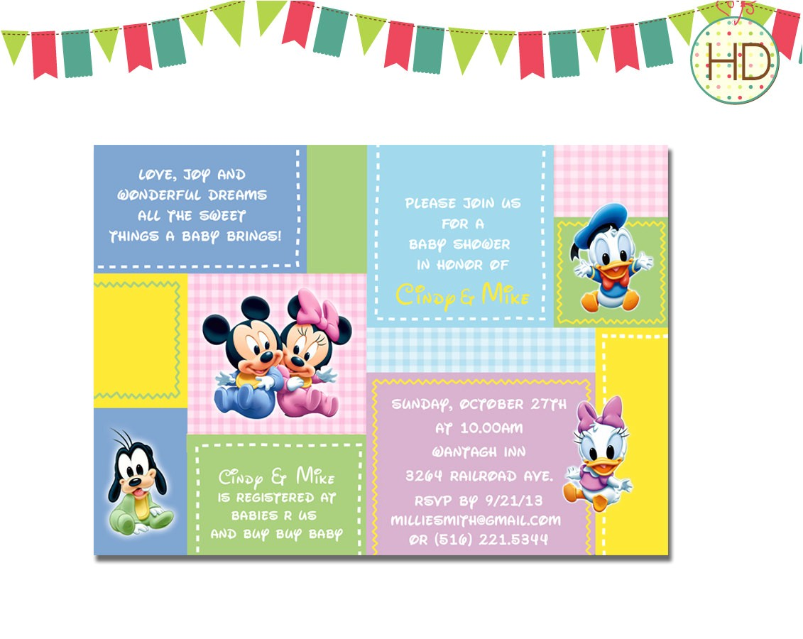 disney baby shower invitations templates
