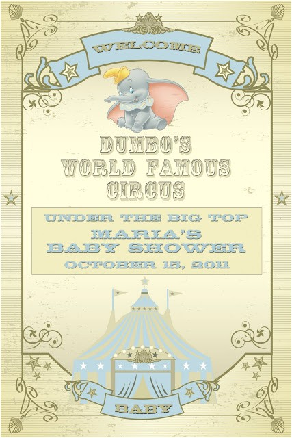 a dumbo themed baby shower