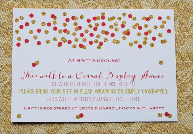 Display Bridal Shower Invitation Wording Display Shower Card Wording Morethanhungry Com Pinterest
