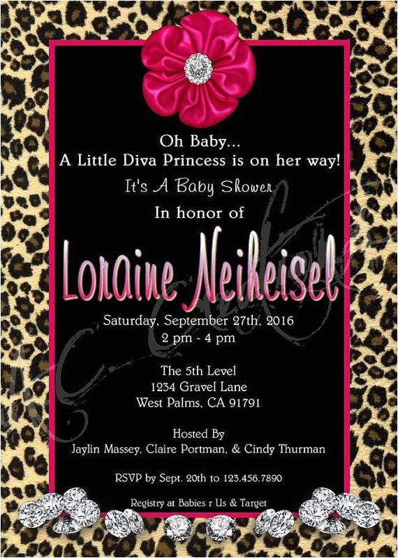 little diva baby shower invitation you
