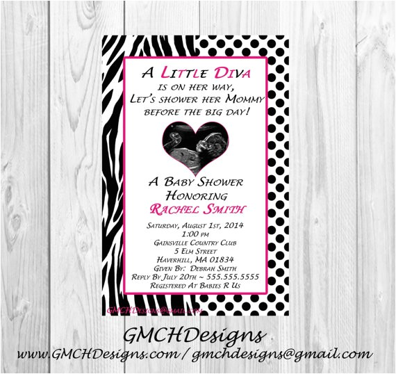 little diva baby shower invitations