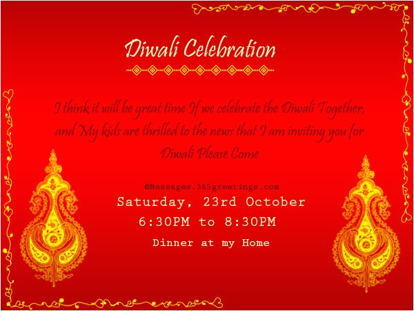 diwali invitation wordings