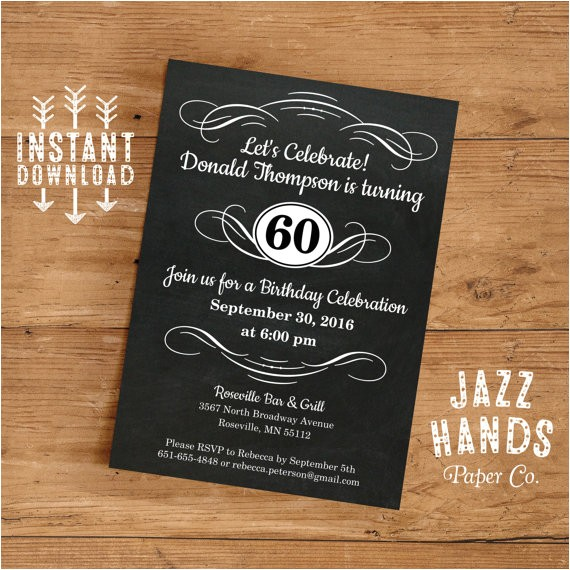 vintage adult birthday invitation template 30th