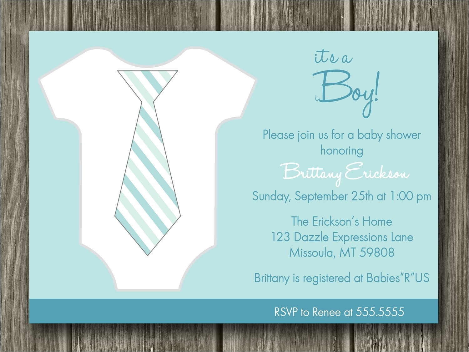 baby boy shower invites template