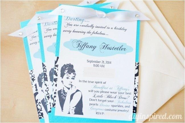 breakfast tiffanys diy invitations
