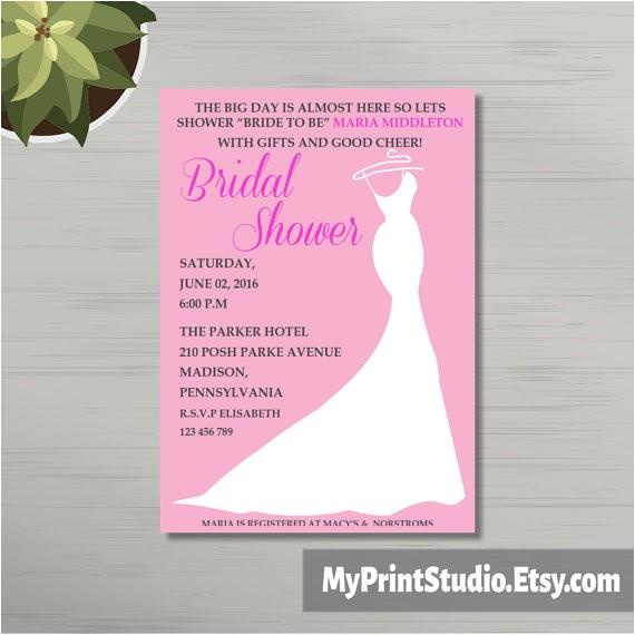 bridal shower invitation template diy
