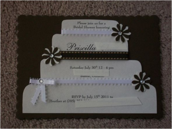 diy bridal shower invitations 2 ways