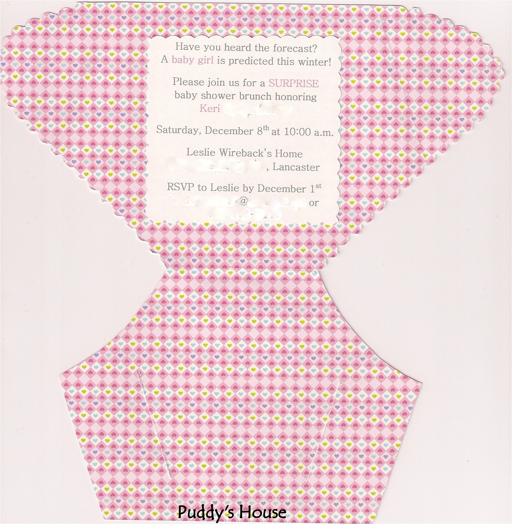diy diaper invitation