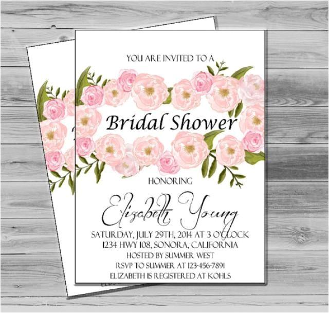 bridal shower invites printable wedding shower invitation diy floral invitation printable bridal invite floral flowers