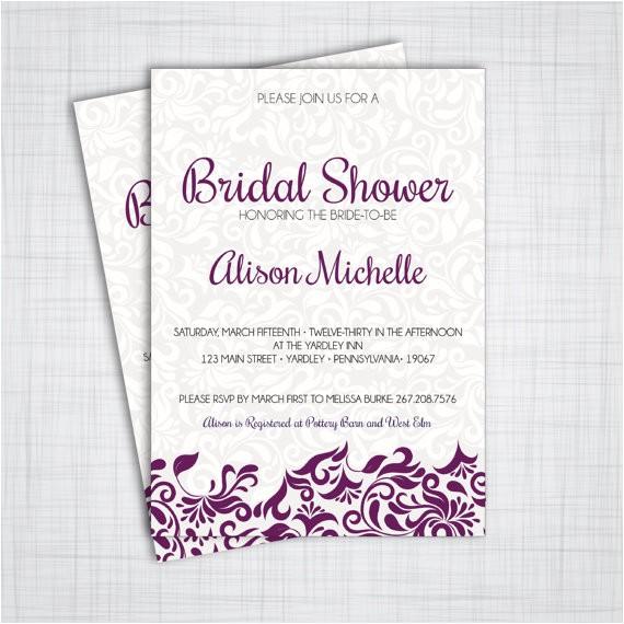 elegant bridal shower invitations diy
