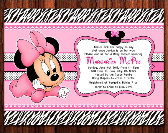 zebra minnie mouse baby diy printable