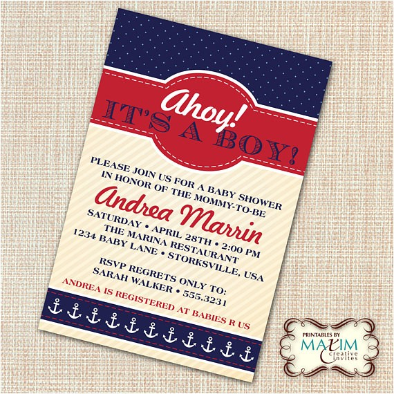 diy printable invitation baby shower