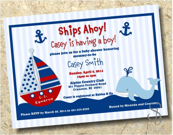 nautical baby boy shower invitation diy
