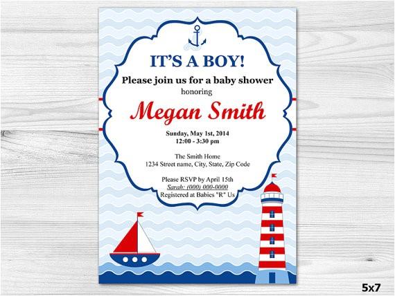 nautical baby boy shower invitation diy