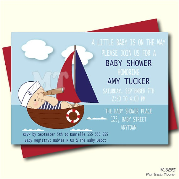 nautical baby shower invitation nautical baby