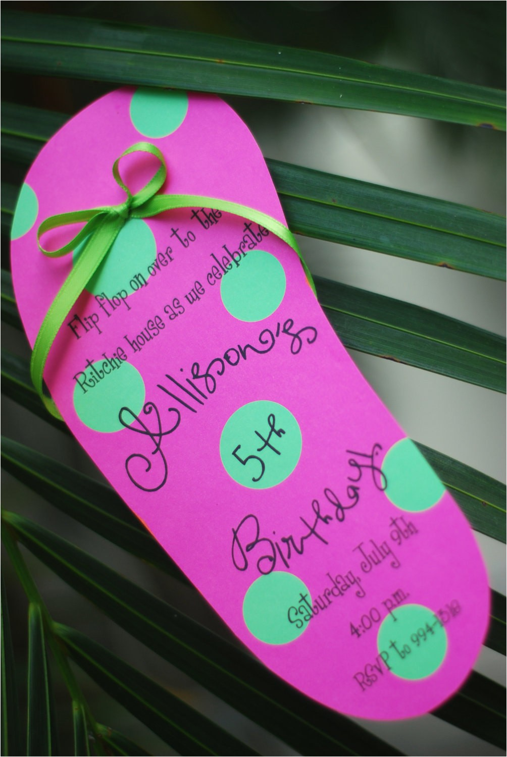 Diy Pool Party Invitation Ideas Diy Pool Party Luau Flip Flop Birthday Invitation