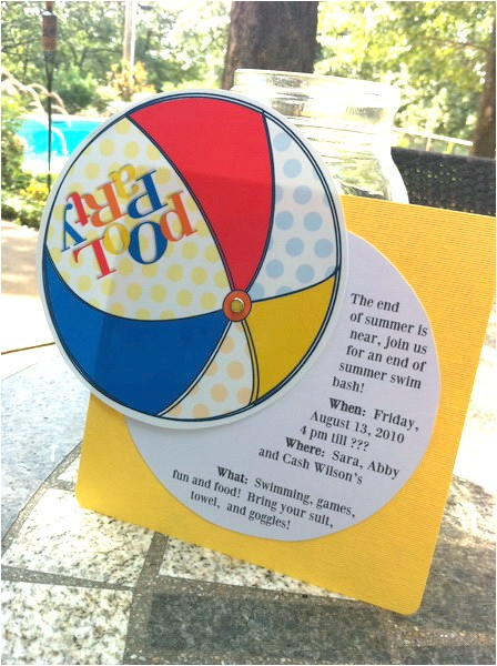 free printable pool party invitation