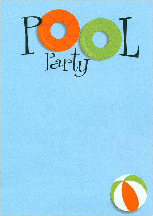 swimming pool party invitations