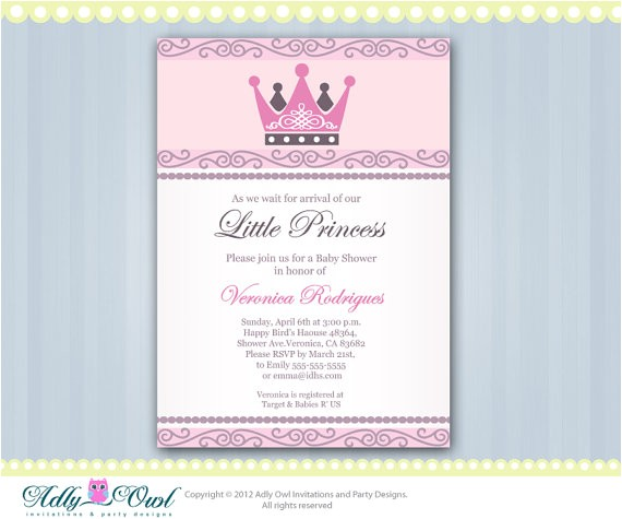 personalized little princess crown royal