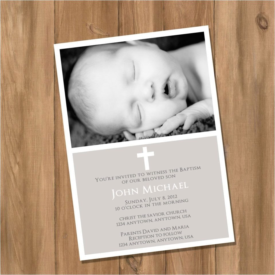 diy baptism invitations