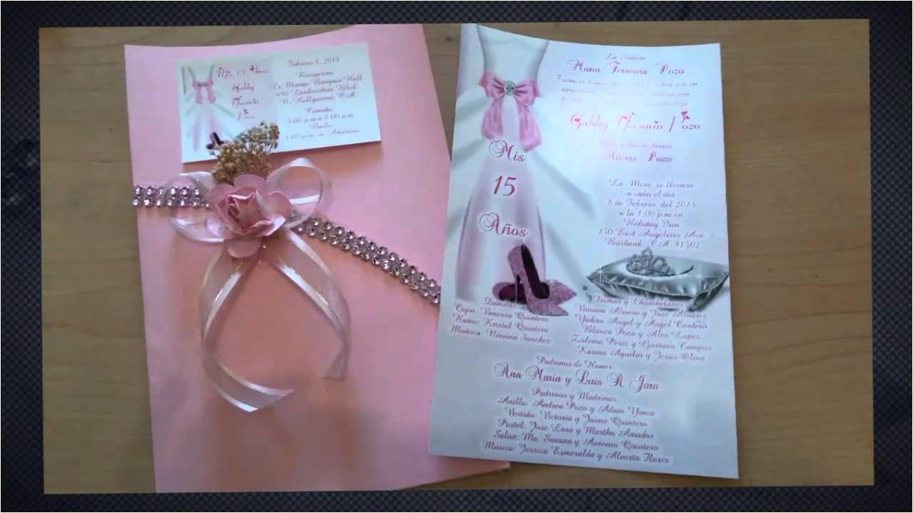 diy quince invitations