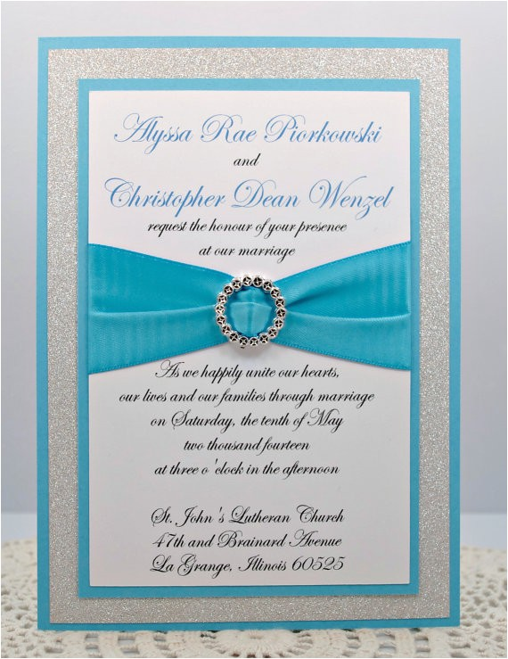 diy turquoise and silver wedding