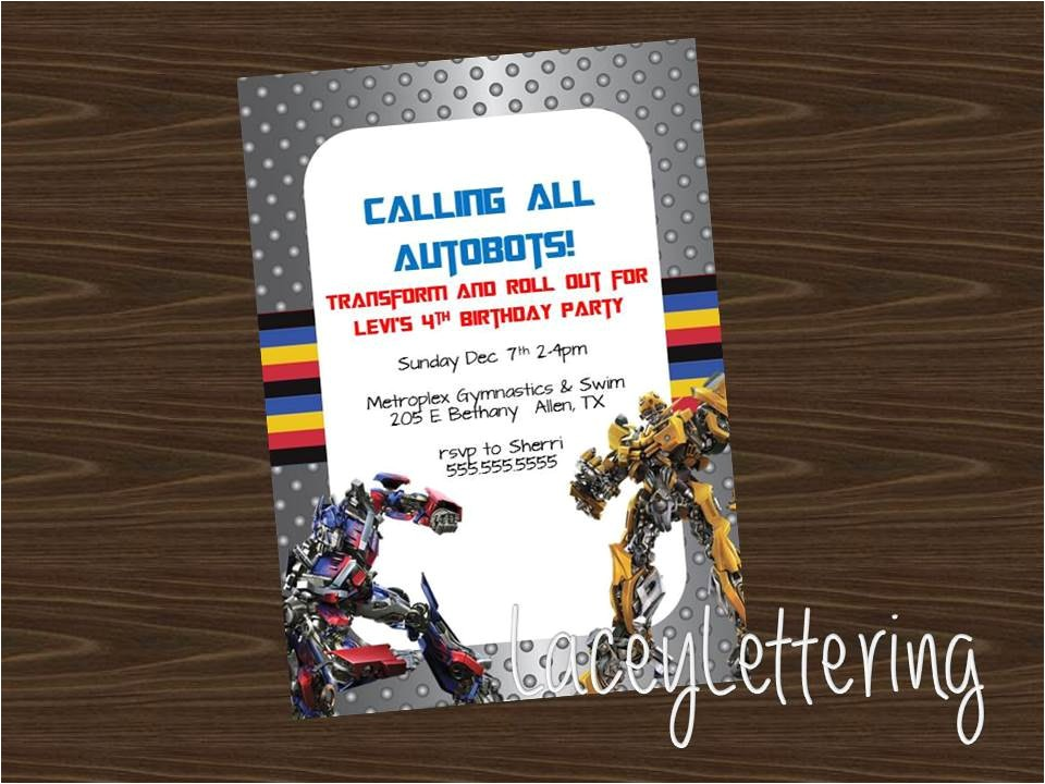 transformers autobots customizable