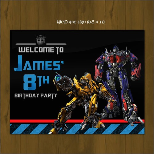 transformers birthday party pack diy