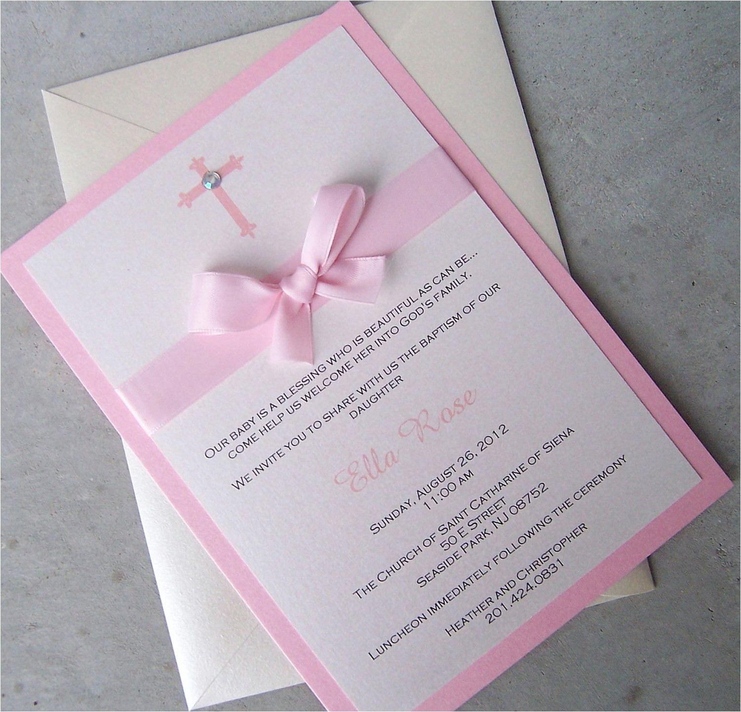 Diy Unique Baptismal Invitation Diy Baptism Invitations Diy Christening Invitations