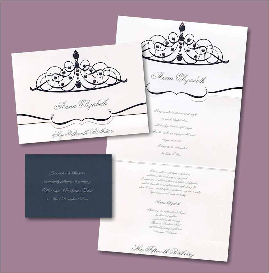 quinceanera invitations for quinceaneras blank