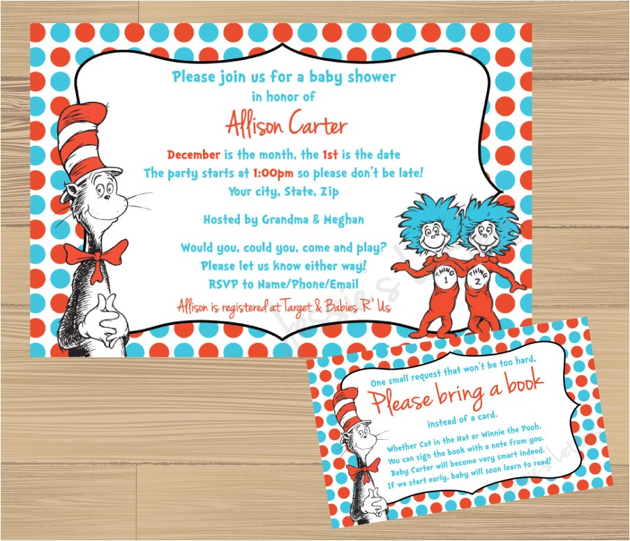 custom made dr suess baby shower
