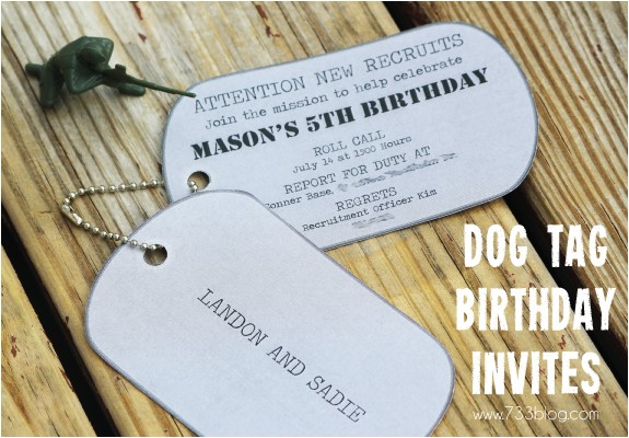 Dog Tag Birthday Invitations Army Dog Tag Birthday Invitation Inspiration Made Simple
