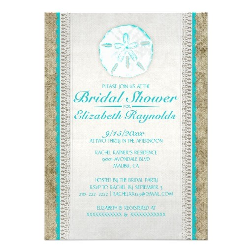 burlap bridal shower invitations