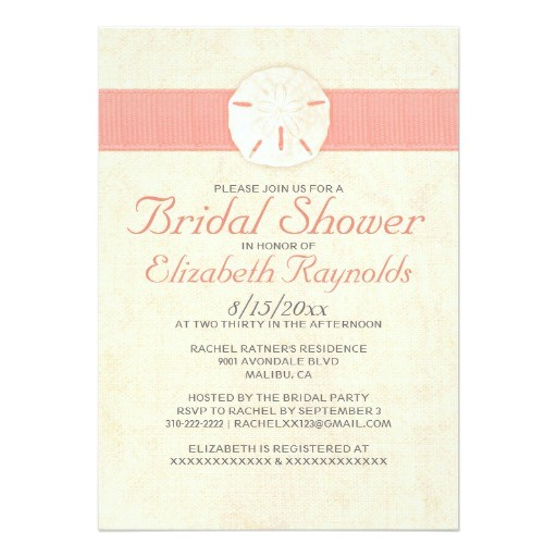 elegant burlap sand dollar bridal shower invites