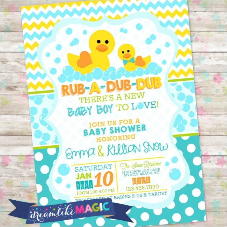 donald duck baby shower invitations